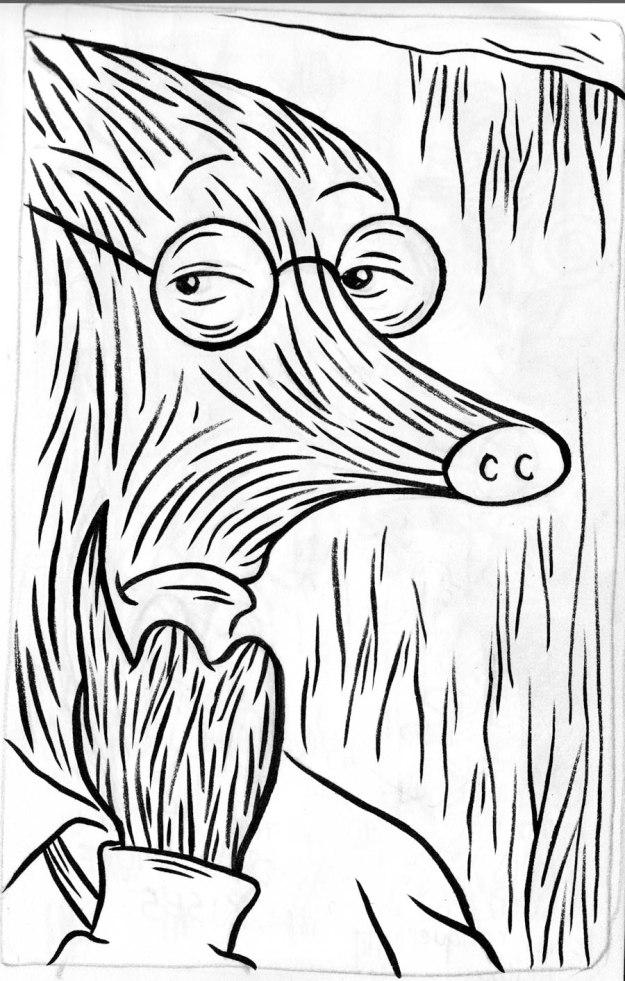 Taupe Chef (case 1, planche 12) - Dessin de Gilderic
