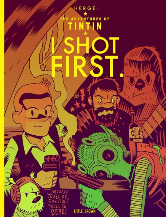 """I Shot First"" - Tintin vs Star Wars, illustration de Mister Hipps"