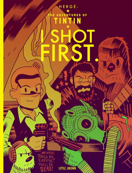 """I Shot First"" - Tintin vs Star Wars, illustration de Mister Hipps"