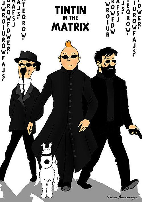 Tintin vs Matrix par isuru077