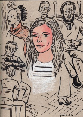Des visages, des figures 4 (dessins d'après modèles par Gilderic)