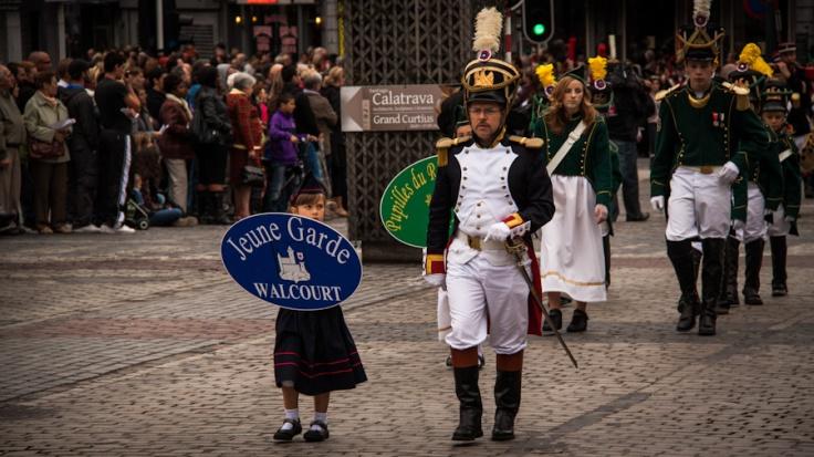 Soldats napoléoniens, Fêtes de Wallonie, Liège - Photo : Gilderic