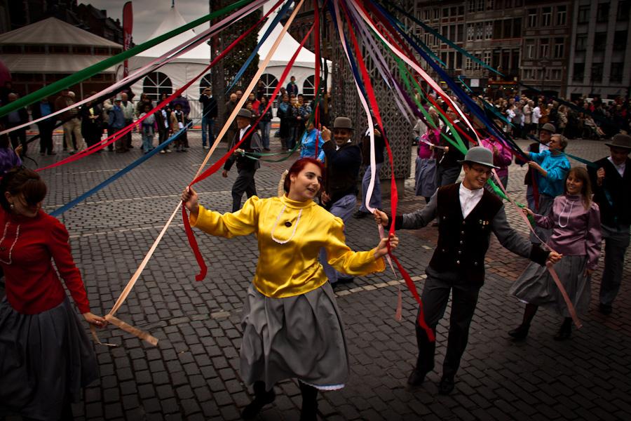 Danse folklorique (Fêtes de Wallonie, Liège) - Photo : Gilderic