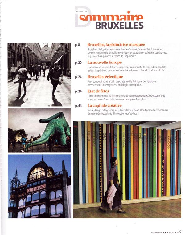 Destination Bruxelles (Milan Presse) : sommaire
