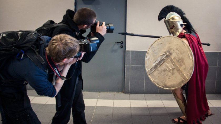FACTS 2012 : Le Spartiate et les photographes - Photo : Gilderic
