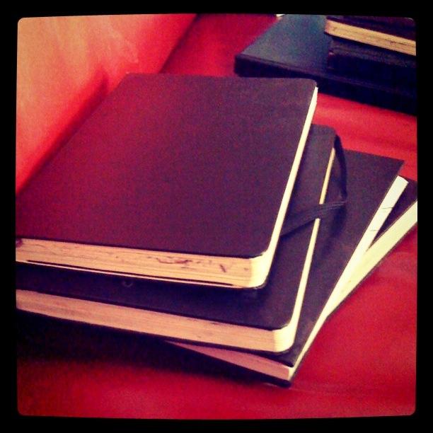 Sketchbooks (carnets à dessin) - Photo (instagram) de Gilderic