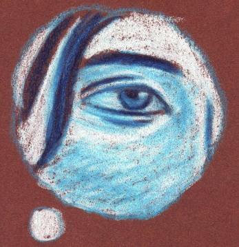 L'oeil (la comédienne rêve) - dessin : Gilderic