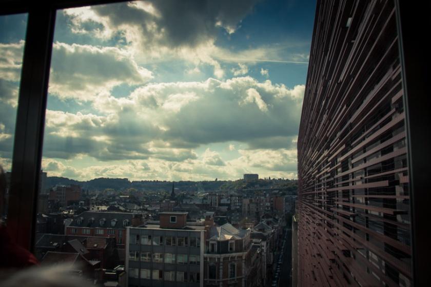 Opéra de Wallonie rénové : dans l'ascenseur (Photo : Gilderic)