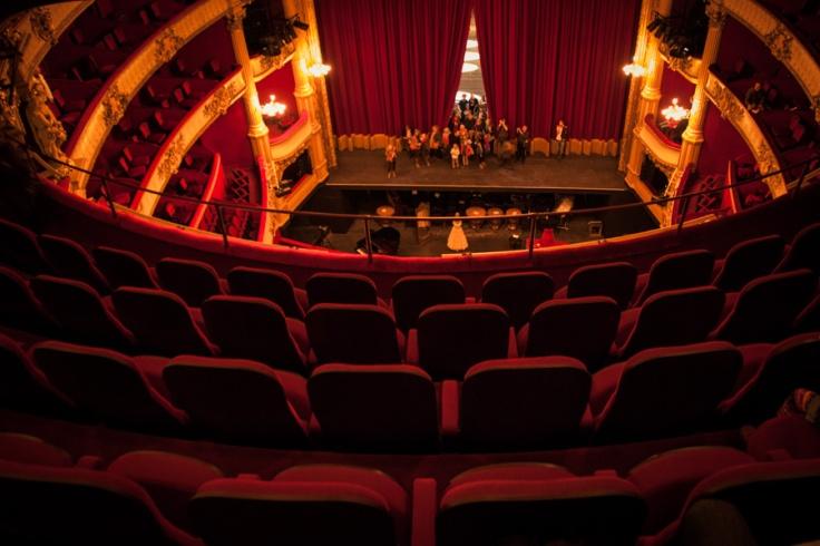 Opéra Royal de Wallonie rénové : la scène vue du paradis (Photo : Gilderic)