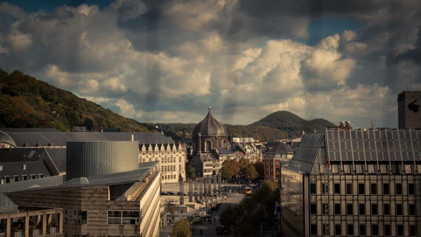 Opéra Royal de Wallonie rénové : panorama sur Liège (Photo : Gilderic)