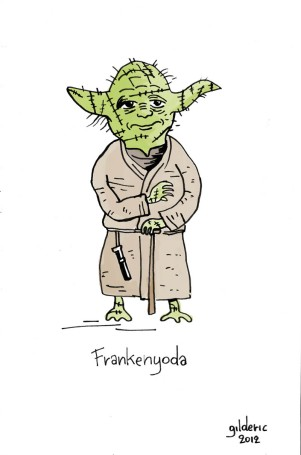 Frankenyoda (Disney Star Wars vu par Tim Burton) - Dessin : Gilderic