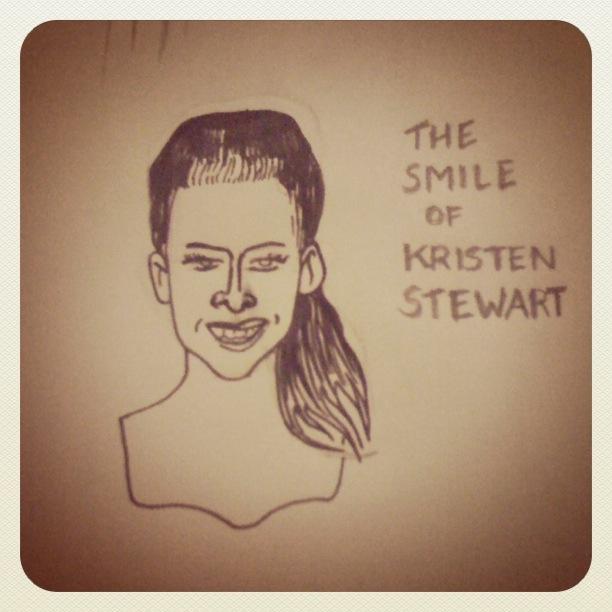 Kristen Stewart (Bella dans Twilight) - Dessin de Gilderic