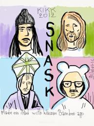 Kikk Festival 2012 - Snask Design Agency - Drawing : Gilderic