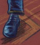 Blue Suede Shoes (Les chaussures bleues) - dessin : Gilderic