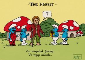 Hobbit et Schtroumpfs (Un voyage inattendu) - Dessin : Gilderic