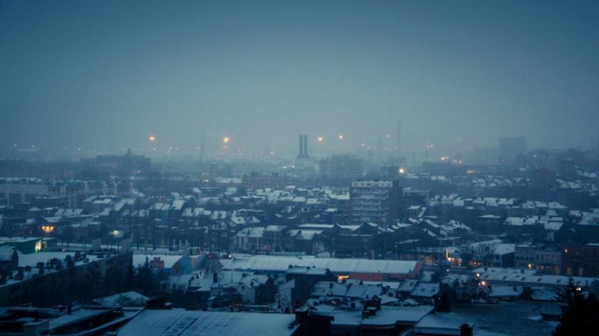 Il neige sur Liège - Photo : Gilderic