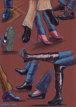 Jeu de pieds - Dessin de Gilderic