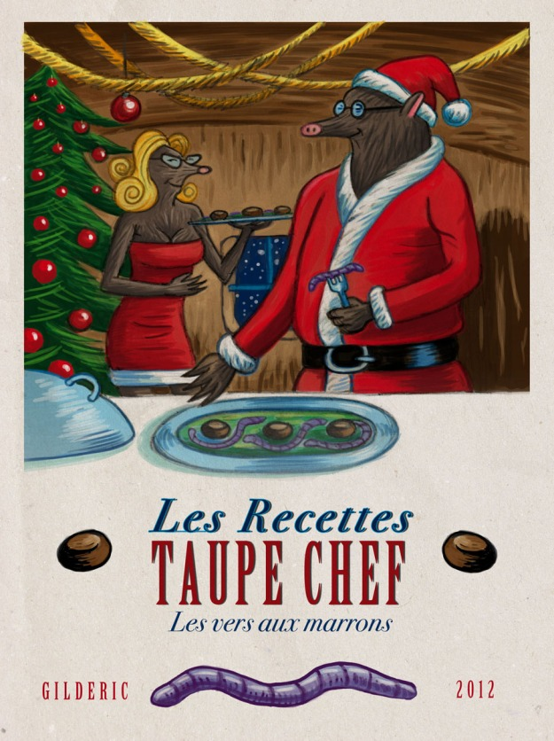 Recettes Taupe Chef Christmas (Vintage book) - Illustration : Gilderic