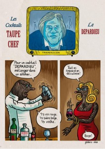 Cocktails Taupe Chef : Le Depardieu - une BD de Gilderic