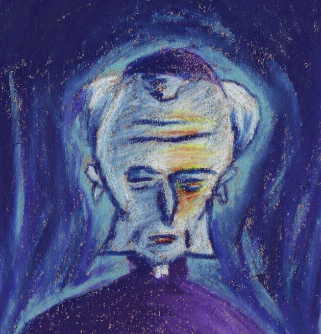 Pape maléfique (détail visage) - Illustration : Gilderic