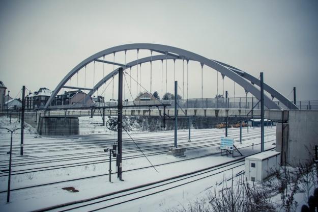 Libramont Station - le pont - Photo : Gilderic