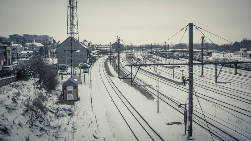 Libramont Station - rails - Photo : Gilderic