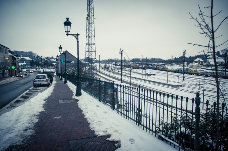 Libramont Station - vers la gare - Photo : Gilderic