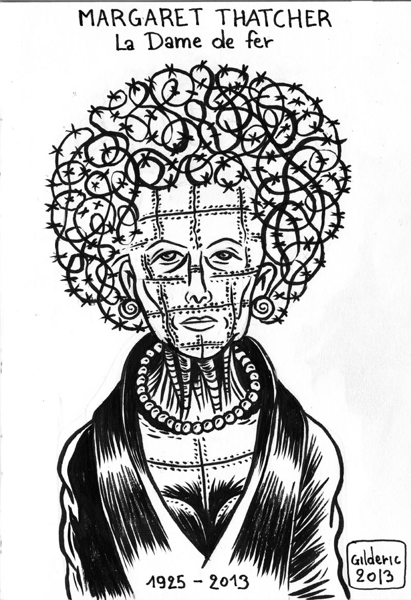 The Iron Lady (Margaret Thatcher) - Dessin de Gilderic