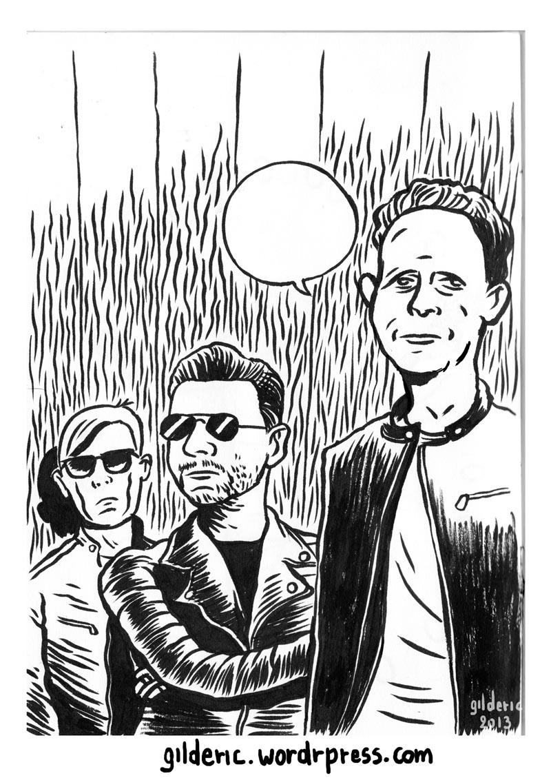 Depeche Mode (n&b) - Dessin de Gilderic