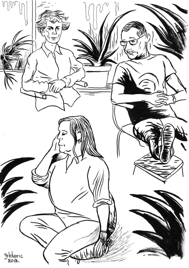 Des visages, des figures : portraits à la plume (Dessin : Gilderic)