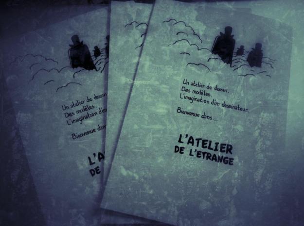 L'Atelier de l'étrange (dos de couverture)  - fanzine de Gilderic