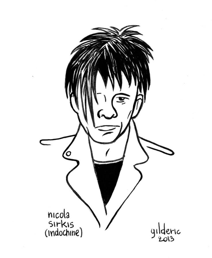 Nicola Sirkis (Indochine) - Dessin de Gilderic