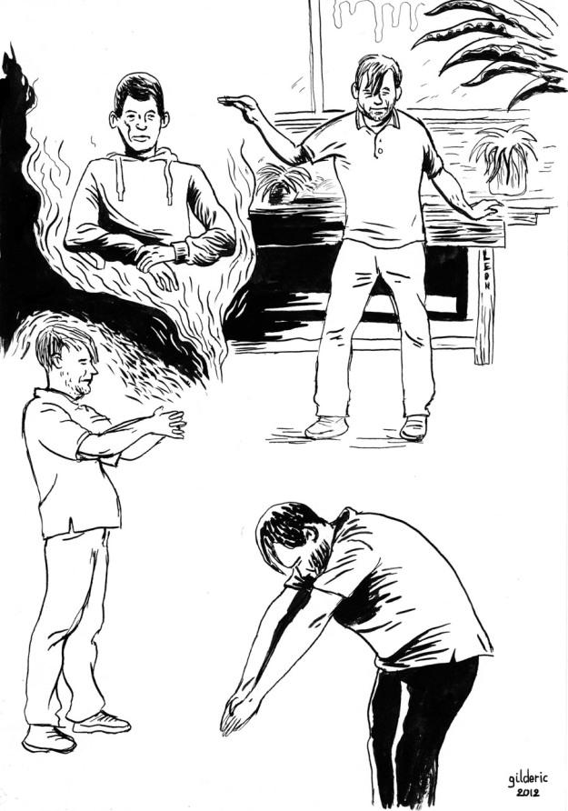Visages, figures XI : portraits d'après modèle - Dessin de Gilderic
