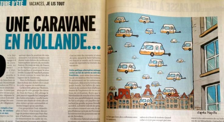 Une caravane en Hollande (illustration pour Marianne Belgique)