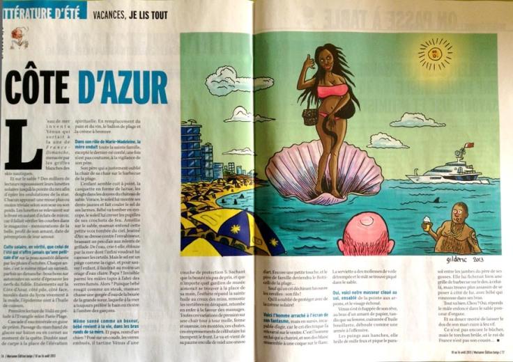 Côte d'Azur (Nabila) pour Marianne - Dessin : Gilderic