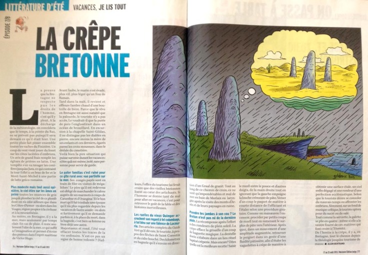 Crepe bretonne (Marianne Belgique) - Dessin de Gilderic