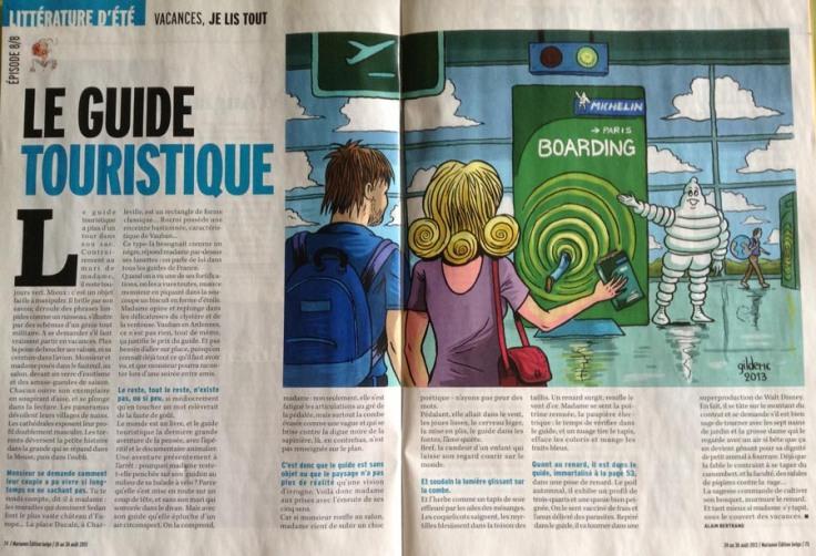 Le Guide touristique (Marianne Belgique) -  Dessin : Gilderic