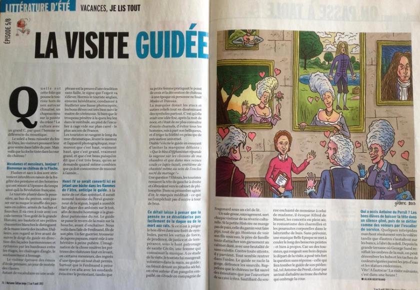 Visite guidée (Marianne Belgique) -  Dessin de Gilderic