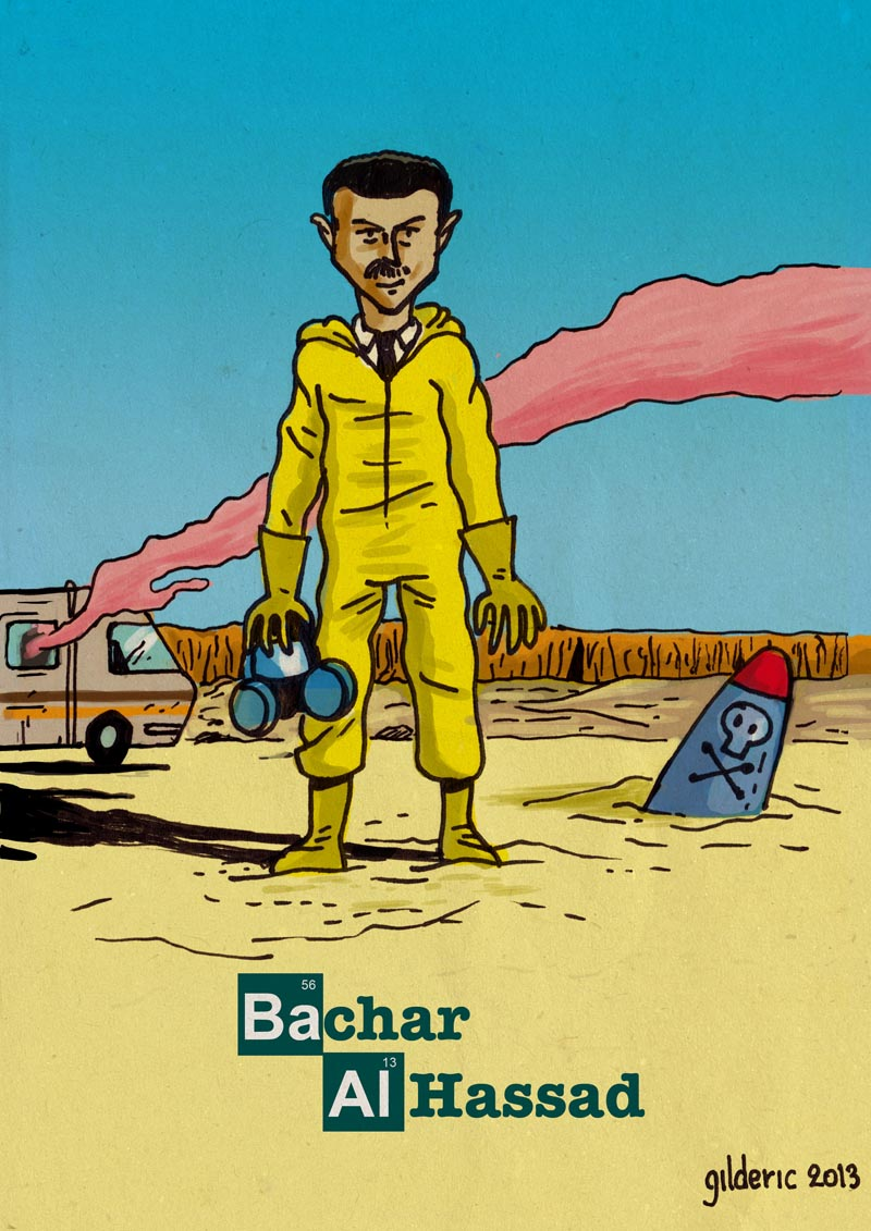 Bachar Al Assad (is Breaking Bad) - Dessin de Gilderic