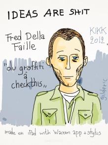 Kikk 2012 - Fred Della Faille (Checkthis) - Dessin sur iPad de Gilderic