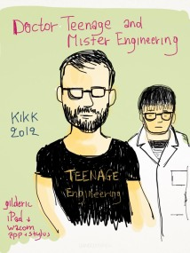 Kikk 2012 -Teenage Engineering - Dessin sur iPad de Gilderic