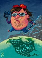 Michael Moore (caricature) - Dessin de Gilderic