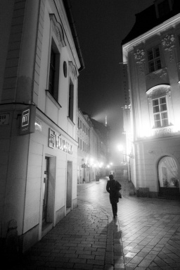 Leaning in the mist - Une nuit à Bratislava - Photo : Gilderic