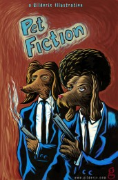 Pet Fiction (une parodie de Pulp Fiction) - Dessin de Gilderic