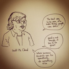Scott Mc Cloud (citations) - Dessin : Gilderic