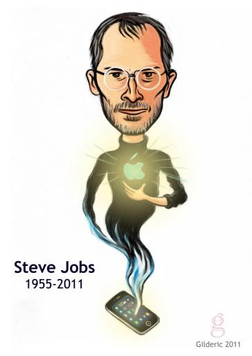 Steve Jobs - Dessin : Gilderic