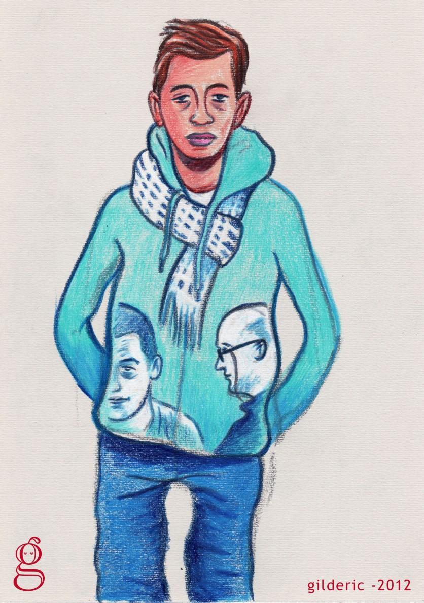 Des Visages, des Figures : l'ado en bleu