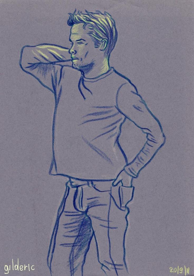 Des visages, des figures : silhouette masculine - dessin de Gilderic