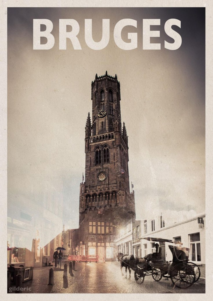 """Bruges (""""vintage"""" poster) - Photo et design de Gilderic"""