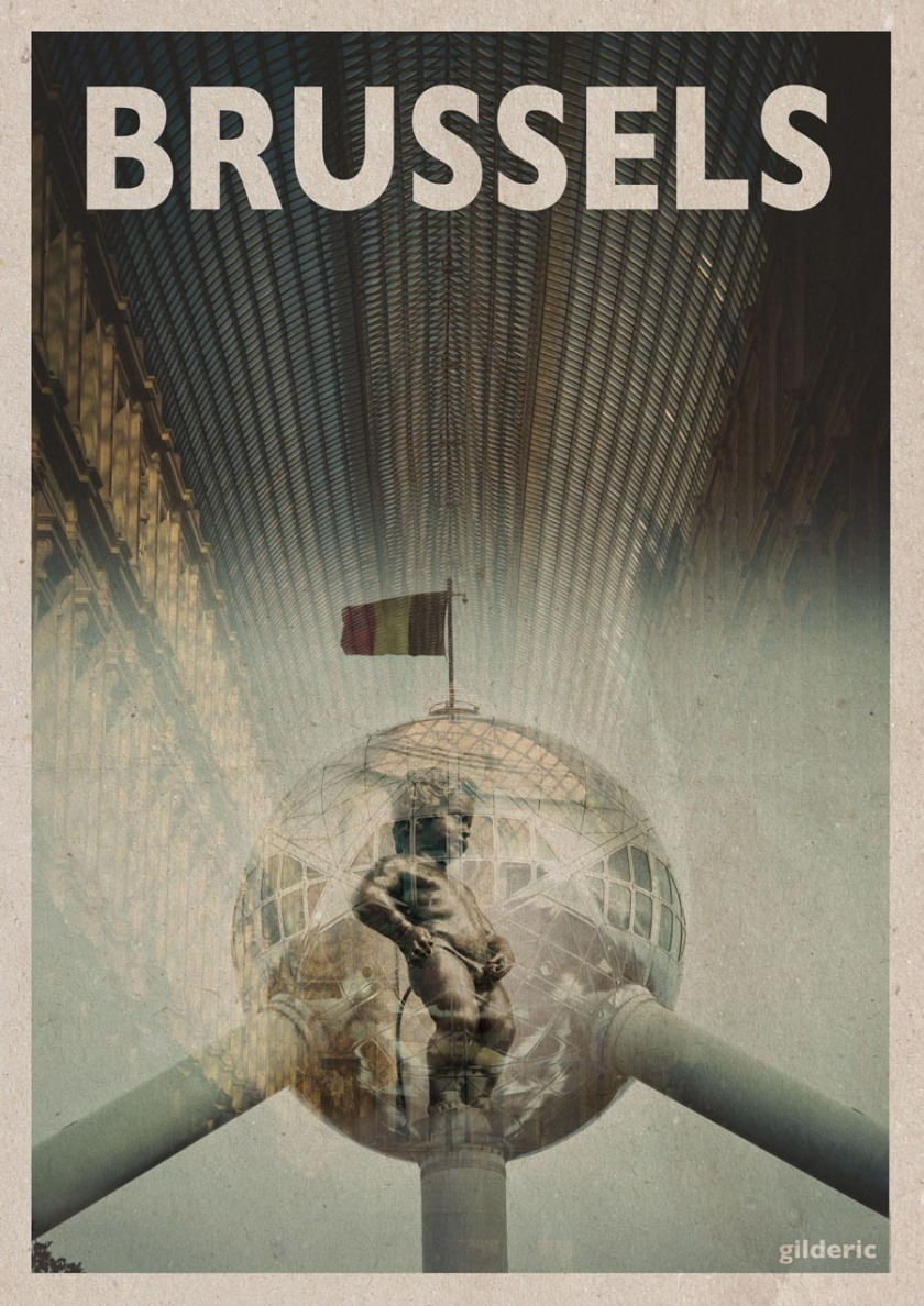 Brussels - Vintage Travel Poster by Gilderic